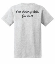 T-shirt Back Ash
